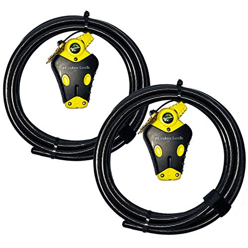 Master Lock Python Adjustable Cable Lock, 8413KACBL-12, 2 Pack