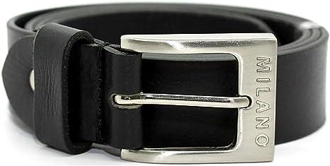 Image ofHombre Grano Entero Cuero Correa 3.8cm en negro o Marrón Medio / Todas Las Tallas