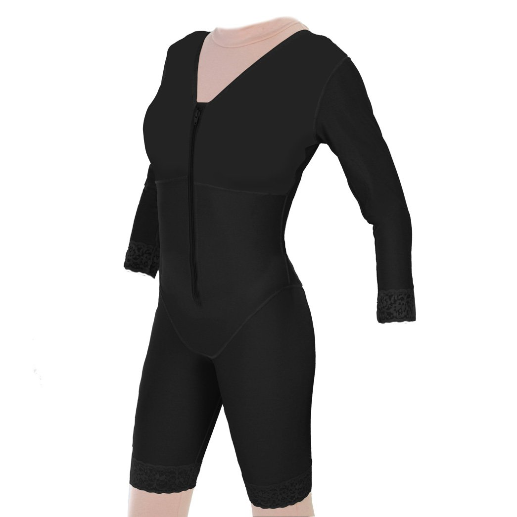 Post Surgical Mid Thigh Compression Body Shaper with Sleeves | ContourMD : Style 27S (Large