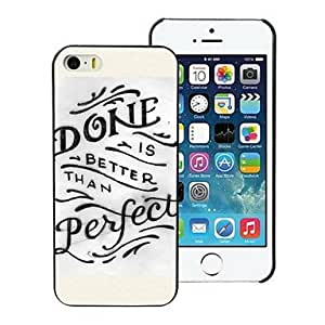 QYF Done Perfect Design PC Hard Case for iPhone I4 , White and Yellow