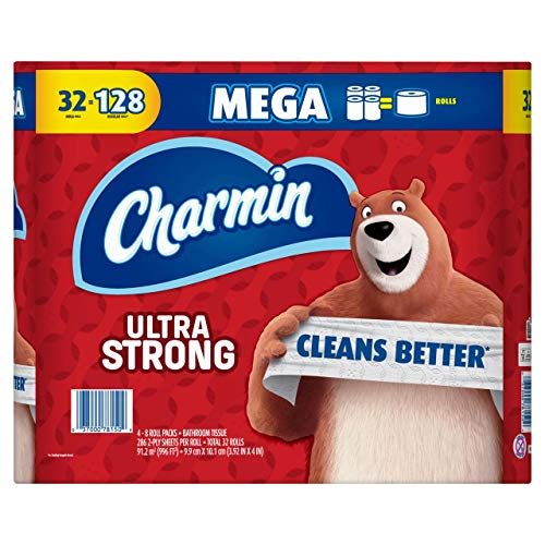 Product of Charmin Ultra Strong Mega Rolls 286-Sheet 2-Ply Bathroom Tissue, 32 p
