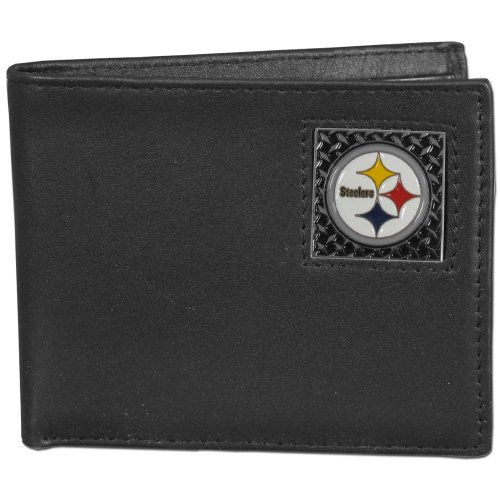(NFL Pittsburgh Steelers Leather Gridiron Bi-Fold Wallet)