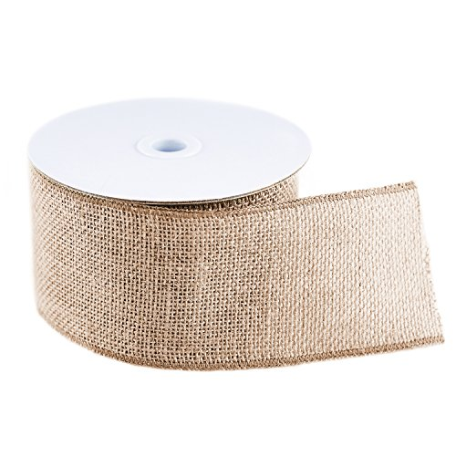 10 Yard Burlap Natural Color Fabric Ribbon Roll for Arts & Crafts Homemade DIY Projects, Event Decorations by Super Z Outlet (3
