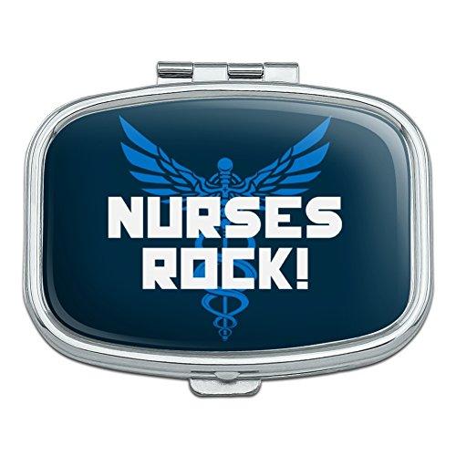 Hermes Box - Nurses Rock RN Caduceus Staff of Hermes Rectangle Pill Case Trinket Gift Box