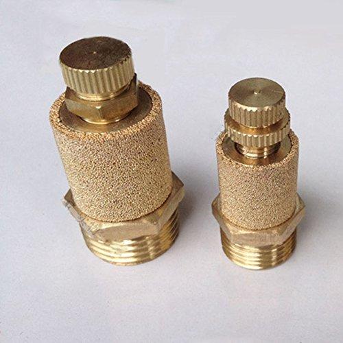 Fevas 10Pcs/Lot Pneumatic Brass Exhaust Muffler Throttle Type 1 inch BSP Silencer Fitting Noise Filter Reducer Connector by Fevas