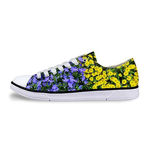 Per Te Design Elegante Donna Casual Lace-up Low Top Comfort Canvas Sneaker Moda Viola C