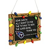 NFL Tennessee Titans Resin Chalkboard Sign Ornament, Blue, One Size