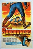 img - for The Sundowners 1952 Western Movie Poster John Drew Barrymore Jr. book / textbook / text book