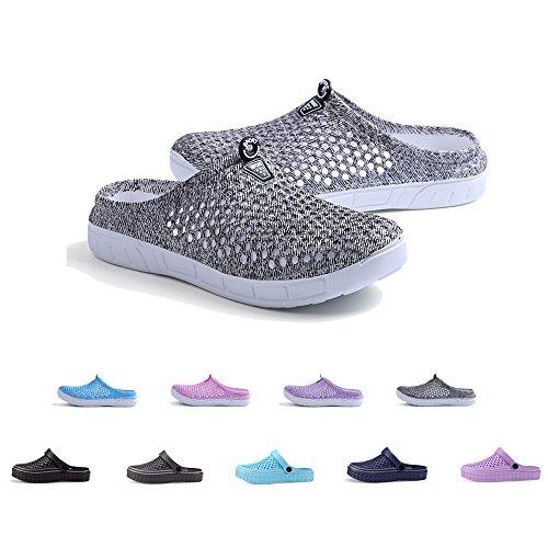 Coolloog Unisex Garden Clogs Shoes Comfort Lightweight Walking Slippers Mesh Quick Drying Sandals