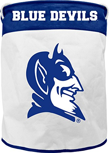 (NCAA Duke Blue Devils Canvas Laundry Basket with Braided Rope Handles)