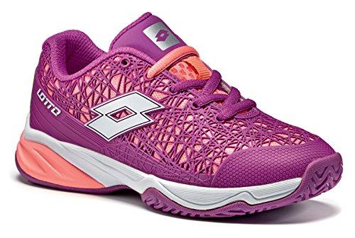 Lotto Viper Ultra Jr L, Zapatillas de Tenis Unisex Niños Violett (PRP IND/Wht)
