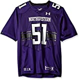 Under Armour NCAA Northwestern Wildcats #51 Men's Official Sideline Jersey, Medium, Purple