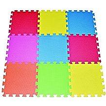 POCO DIVO 9-tile Multi-color Exercise Mat Solid Foam EVA Playmat Kids Safety Play Floor