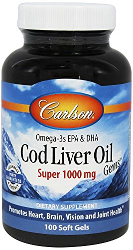 Carlson Super 1000mg Cod Liver Oil, 100 Softgels