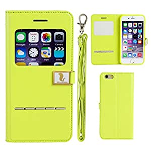Hello Deere Stylish Open Tyle PU Diary Case for iPhone 6 / iPhone 6s (Green)