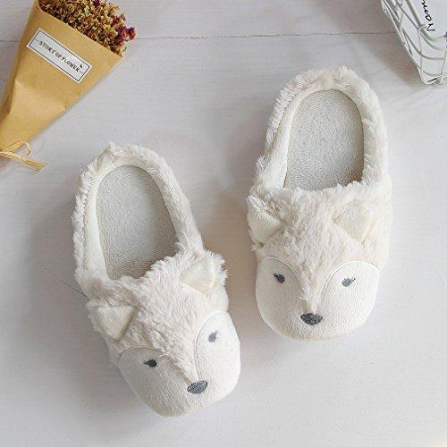 Fox Femme pour Caramella White Bubble Chaussons nq0nZg8