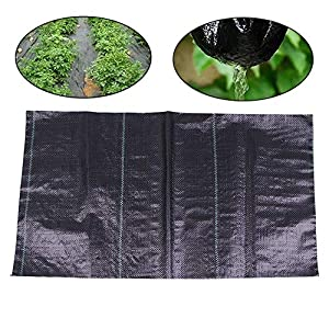 Garden Weed Barrier Landscape Fabric,3.5 Oz Ground Cover Weed Barrier Fabric,for Soil Erosion Control and UV stabilized…