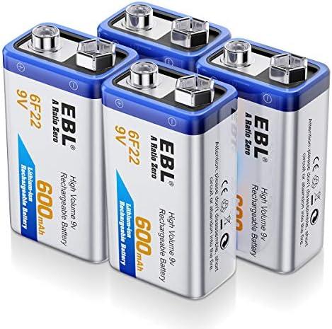Amazon.com: EBL 9V 600mAh baterías de ...