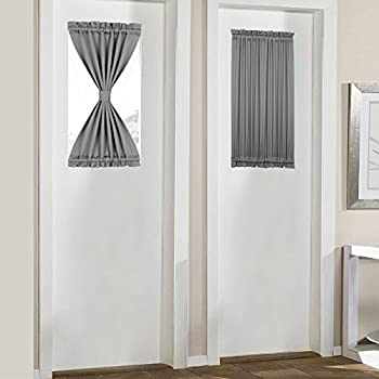 Amazon nicetown sidelight panel curtains french door side panovous grey french door curtains for small windows rod pocket blackout curtains for front side window 25x40 inch grey 1 panel solutioingenieria Choice Image
