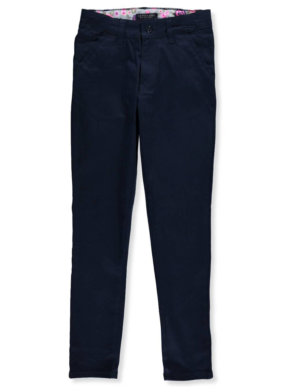 U.S. Polo Assn.. Little Girls' Toddler Skinny Pants - Navy, 4t