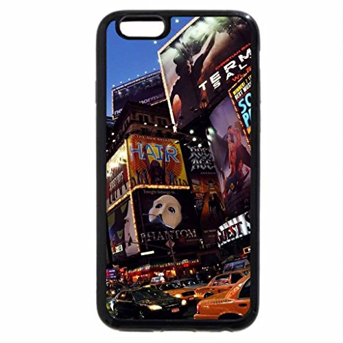 iPhone 6S / iPhone 6 Case (Black) fisheye view of times square in nyc
