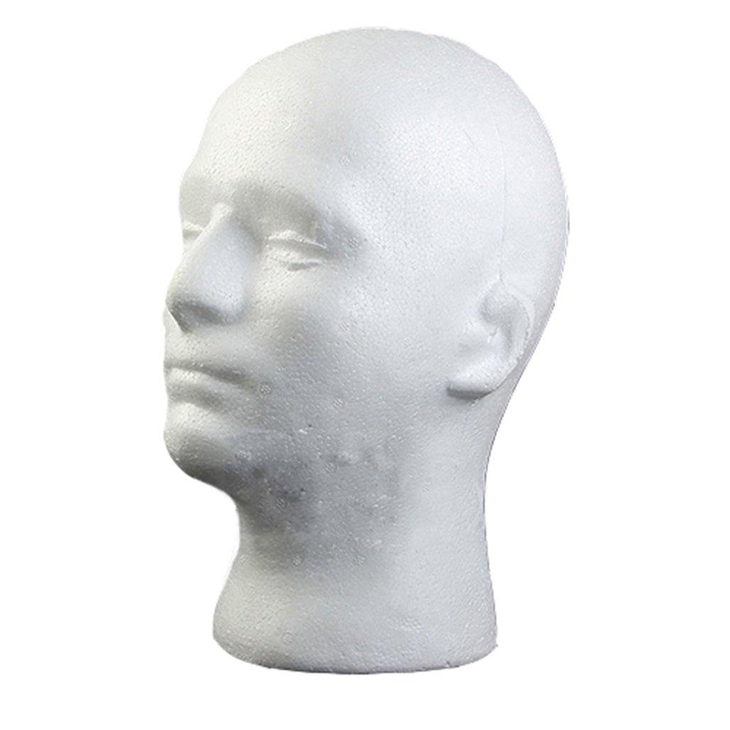 Male Styrofoam Foam Mannequin Manikin Head Model Wig Glasses Hat Display Stand Bodhi2000
