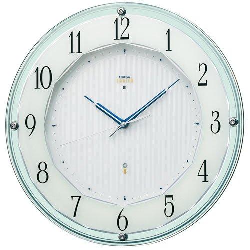 SEIKO CLOCK EMBLEM (セイコークロックエンブレム) 電波 壁 掛け 時計 HS546S アナログ シルバー B00ICK9Y5W