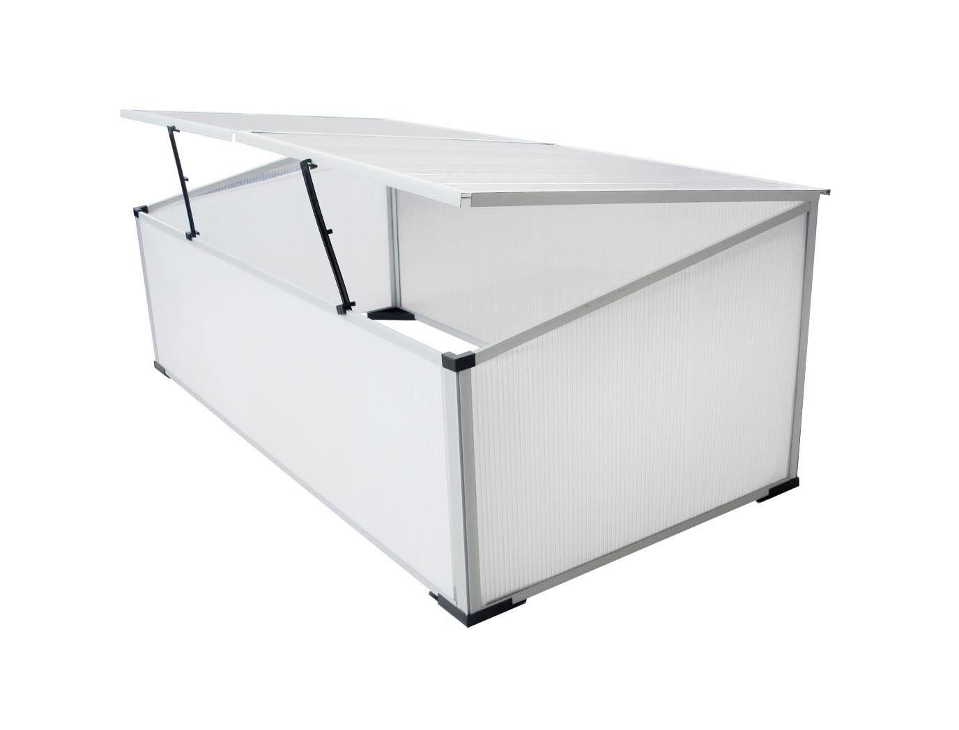 Serra in alluminio 80x50xh150 con porte per giardino balcone ...