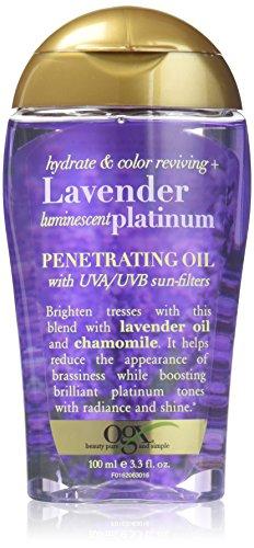 OGX Lavender Platinum Penetrating Oil with UVA/UVB Sun-Filte