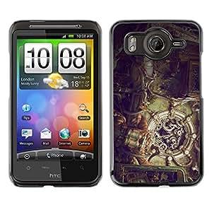 Caucho caso de Shell duro de la cubierta de accesorios de protección BY RAYDREAMMM - HTC G10 - Ilustración Steampunk