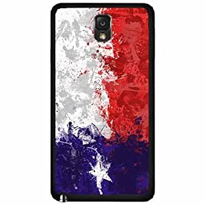 Hand Painted Texas Flag - TPU Rubber Silicone Phone Case Back Cover (Galaxy Note 3)