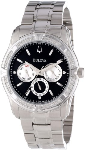 Bulova Men's 96E115 Diamond Case Watch Set