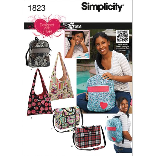 Simplicity Purse Patterns (Simplicity 1823 Bags Designed with Love by Sara Sewing Pattern, Size OS (One Size))