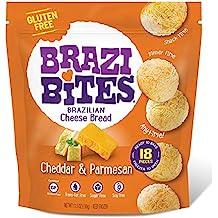 Brazi Bites Brazilian Cheese Bread (Cheddar & Parmesan, 6-Pack)