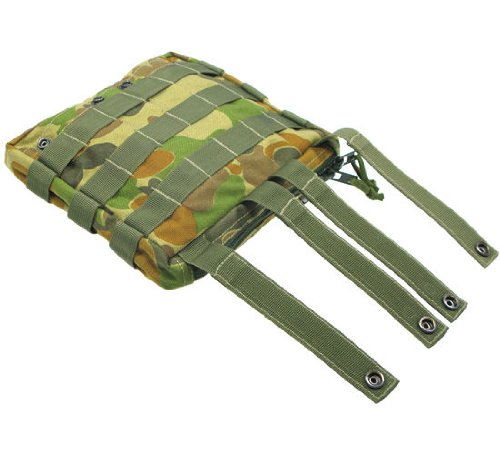 BE-X Stapelbare Tasche -Shingle gross- mit MOLLE, für MOLLE - auscam
