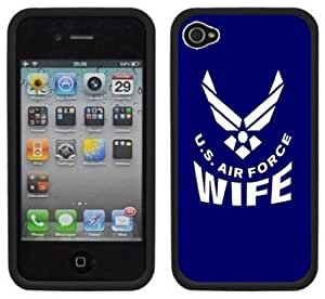 Air Force Airforce Wife Handmade iPhone 4 4S Black Hard Plastic Case