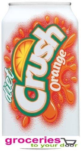 Crush Orange Diet Soda, 12 oz Can (Pack of 24)