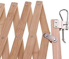 Delisouls - Protector de barrera de madera para perros para interiores y exteriores, plegable, portátil para puerta corredera para puerta, escaleras y cocina: Amazon.es: Hogar