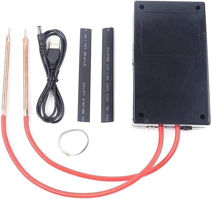 Integrated Spot Welder Kit Black Hand‑Held DIY Adjustable Spot Welding Pen Automatic Trigger for 18650 Battery