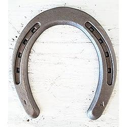 The Heritage Forge - 20 Horseshoes - Plain Shoe - Sand Blasted Steel Size 1