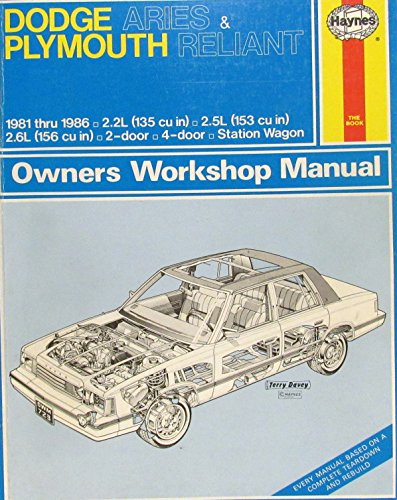 Dodge Aries Plymouth Reliant Owners Workshop Manual: Models Covered 1-Door, 4 Door, (Dodge Aries Station Wagon)