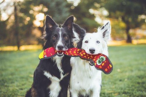 Outward Hound Invincibles Tough Seamz Stuffingless Durable Tough Plush Toy for Dogs, Tough Squeaky Dog Toy by, Snake, 3 Squeakers by Outward Hound (Image #3)
