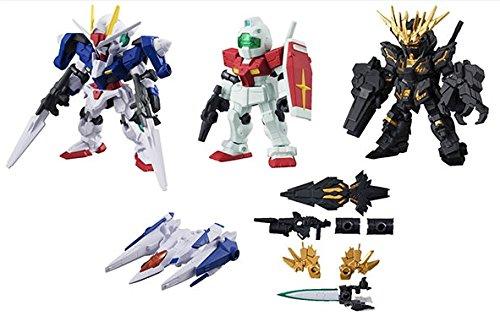 Bandai Gundam Mobile Suit Ensemble Figure Series 02 ~Gundam 00 Unicorn Gundam Set of Five