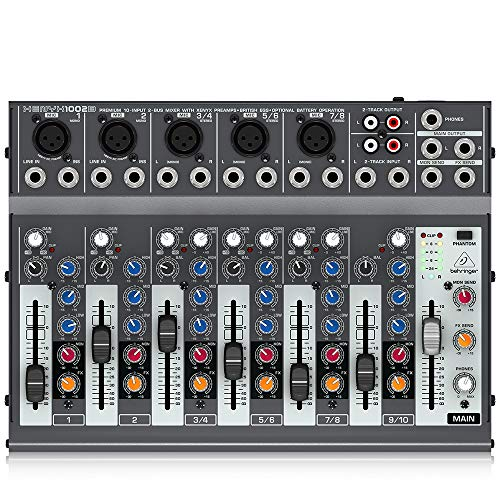 Behringer Xenyx 1002B Premium 10-Input 2-Bus Mixer with XENYX Preamps