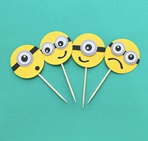 12 Minions Cupcake Toppers, Despicable Me Birthday Party, Minion Baby Shower, Cupcake Decoration, Minion Cupcake Toppers, Minions -
