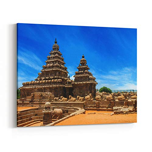 - Rosenberry Rooms Canvas Wall Art Prints - Shore Temple A Popular Tourist Destination and UNESCO World Heritage at Mahabalipuram, Tamil Nadu, India (24 x 16 inches)