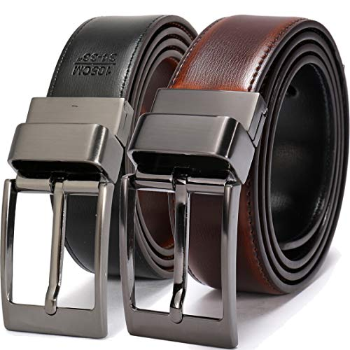 Beltox Fine Men's Dress Belt Leather Reversible 1.25