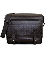 Salvatore Ferragamo Gamma Calfskin Leather Messenger Bag, Hickory 249655