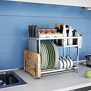 XIAOLI& Doppelte Edelstahl Regal Küche Regal Tisch Rack Küche ...