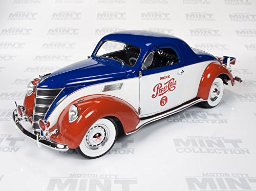 1937 Lincoln Zephyr Coupe Pepsi Cola 1:18th Scale Autoworld Die-cast